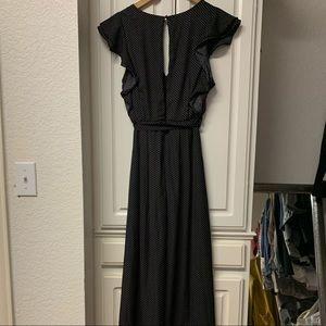 She and Sky Dresses - NWT She & Sky black polka dot maxi dress romper